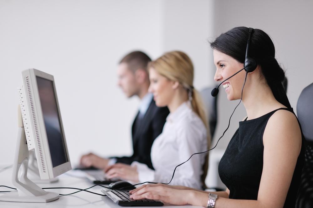 employees taking calls