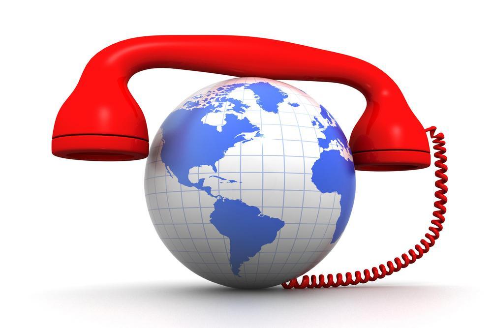 globe and phone