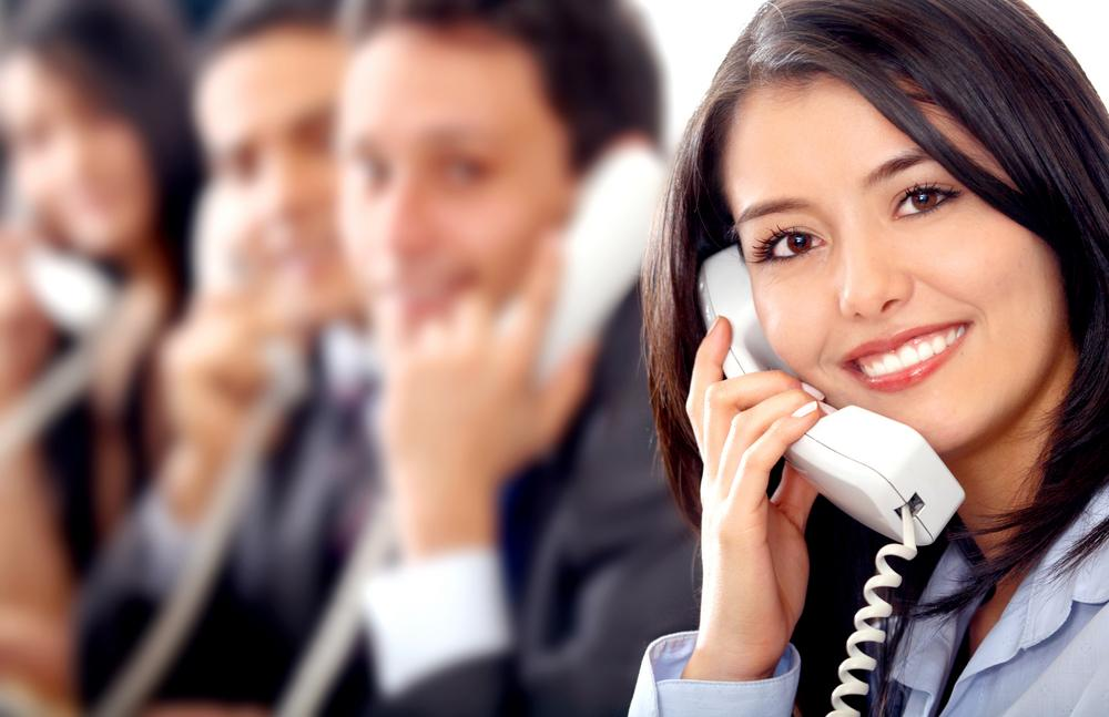 sales team on the phone