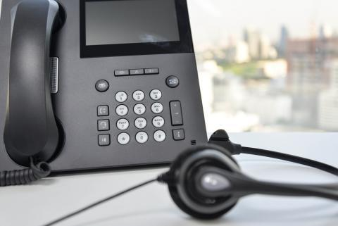 IP phone and a headset